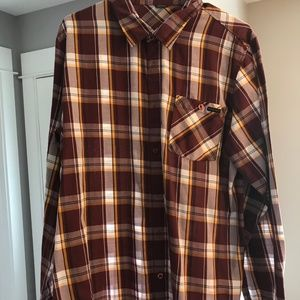 Mens Oakley Large Casual Button Down